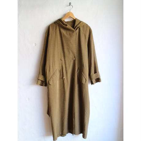 80's Hooded long coat