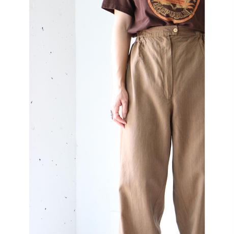 High waist brown pants