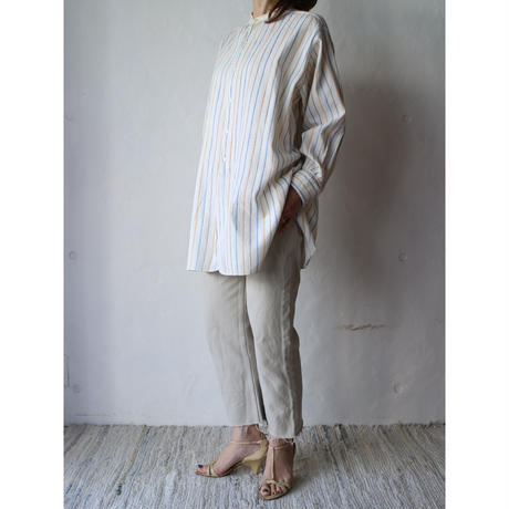 40's Stripe long dress shirt