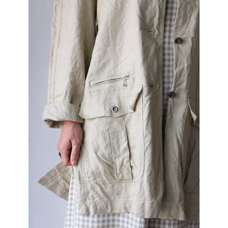 No collar linen jacket