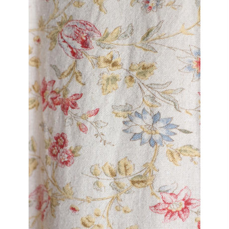 90's Floral linen maxi dress