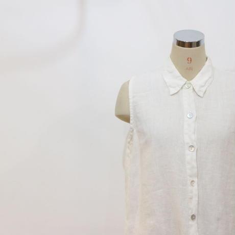 リネンノースリーブシャツ [058]
