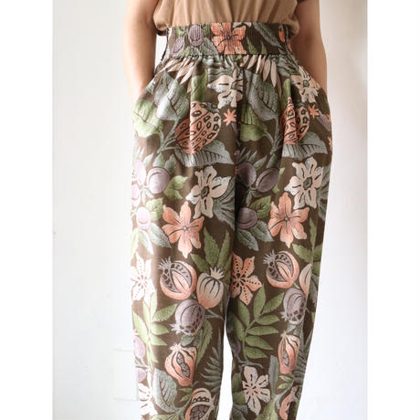 Patterned easy pants