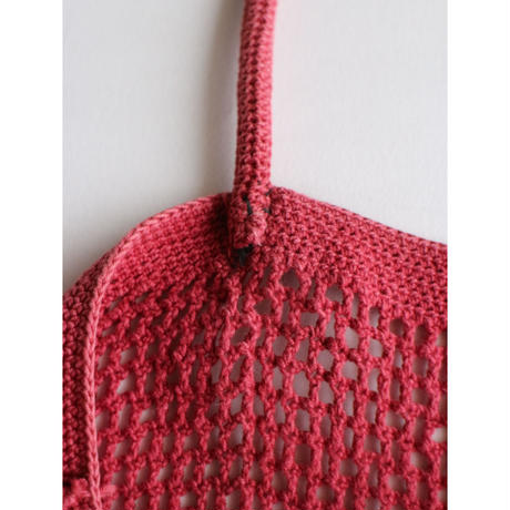 "Crochet ToteBag ""Red1"" [No.60088]"