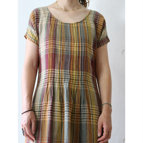 India madras maxi dress
