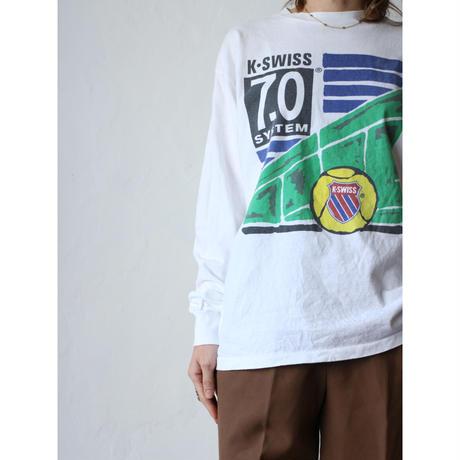 """90's L/S T-shirt """"K-SWISS"""""""
