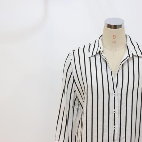 ストライプリネンシャツ [371]