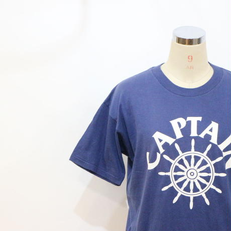 "80's~ T-shirt ""CAPTAIN"" [895]"
