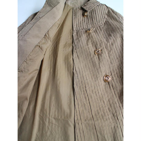 Euro vintage pin tuck coat
