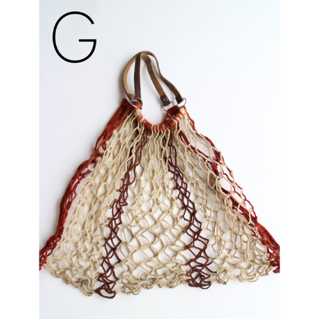 """NetBag """"Leather Handle"""" S size [No.04]"""
