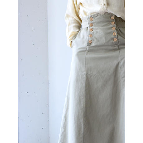Side belted chino skirt