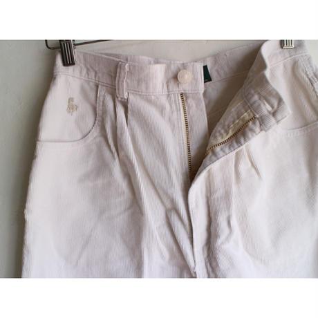 White corduroy pants