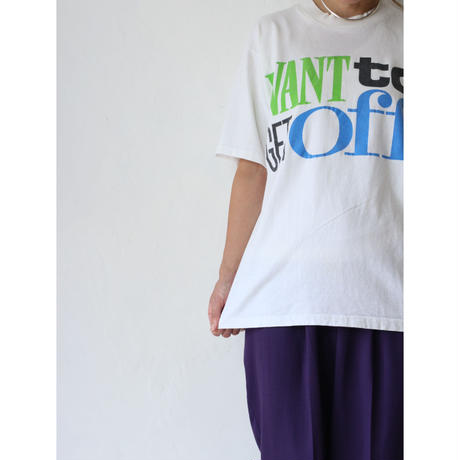 "90's T-shirt ""WANT TO"" [No.00055]"