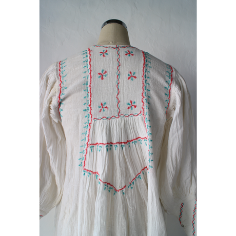 Cottongauze embroidered dress