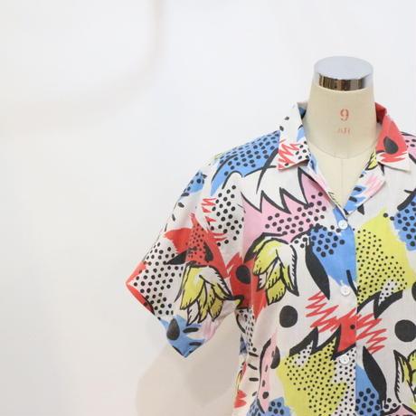 80's オープンカラーシャツ [367a]