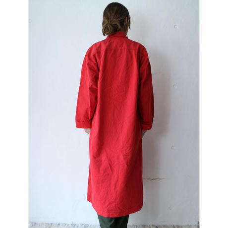 80's Cotton canvas long coat