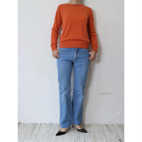 "High gauge knit ""Orange"""