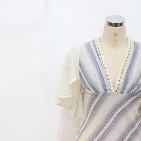 コットンガーゼ ロングドレス [329b]