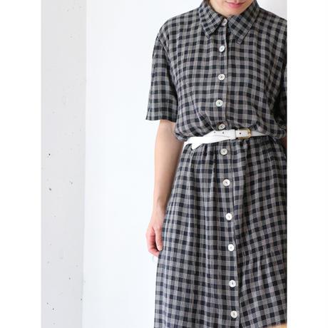 Plaid long dress
