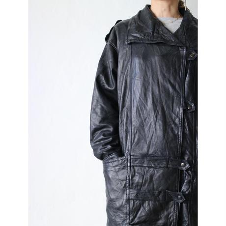 ~80's Leather half coat