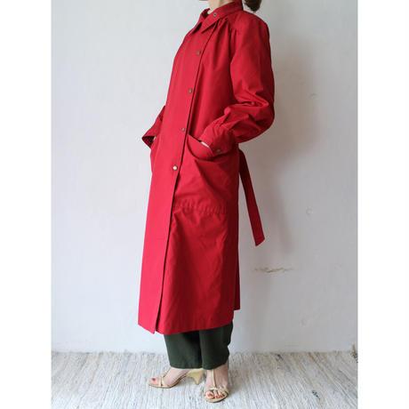 Snap button long coat