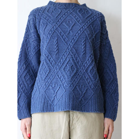 Ramie cotton Cable knit