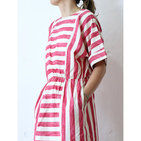 80's Red×white onepiece