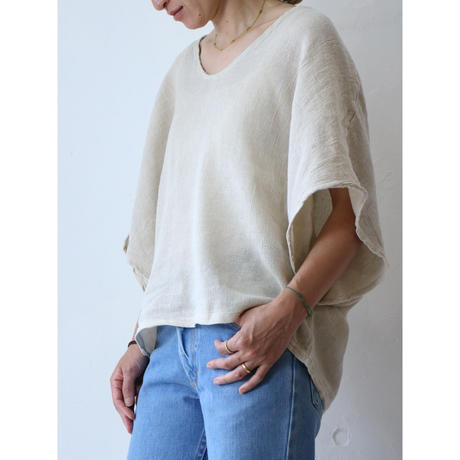 Linen wide tops