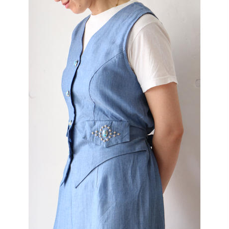 Chambray jump suit