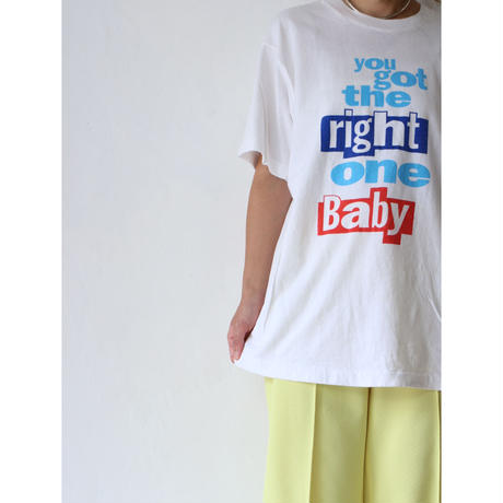 "90's T-shirt ""right one baby"" [No.00057]"