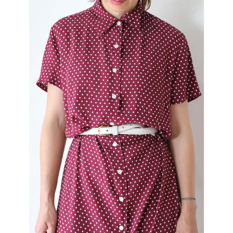 Polka dots long dress