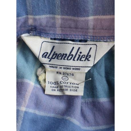 Plaid flannel skirt