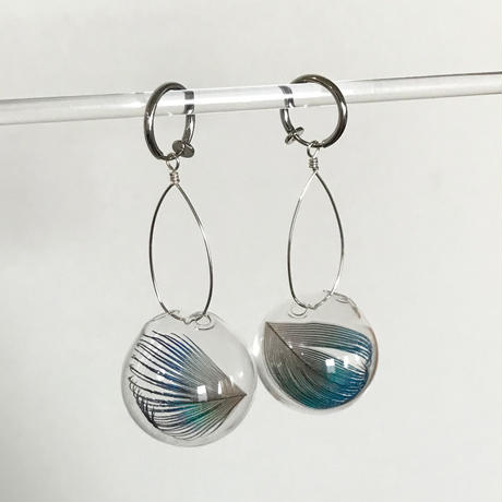 Ornament glass Earrings [GFP-15]