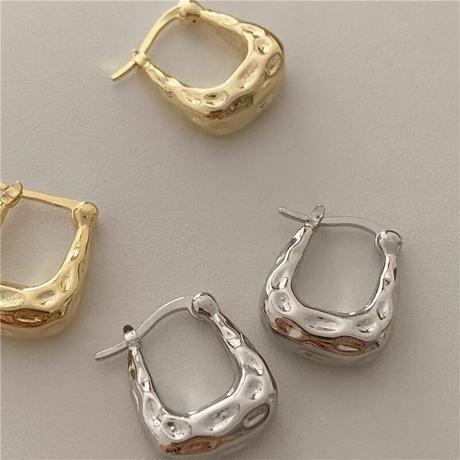 (pierce)P-14 square hoop pierce
