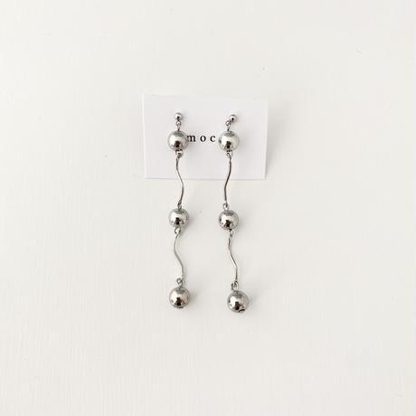 (pierce/earring)P-11 silver beads