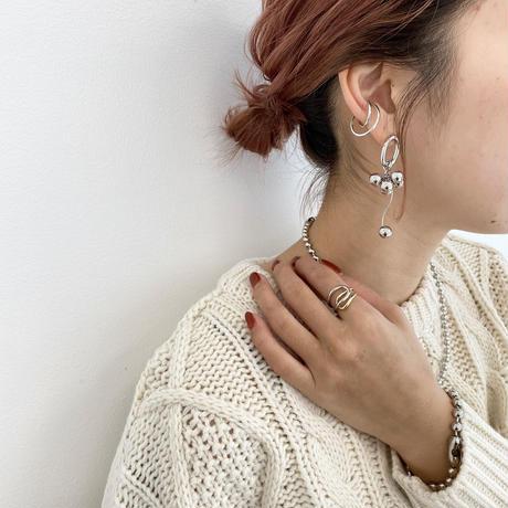 (earring)P-10 silver beads earring
