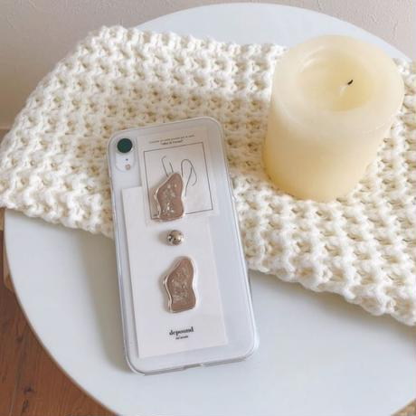 《受注販売〜2週間待ち》sliver original iphone case