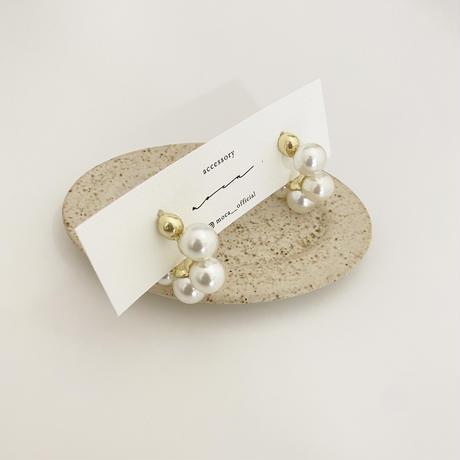 (new arrival)pearl hoop pierce