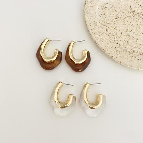 (new arrival)gold hoop pierce