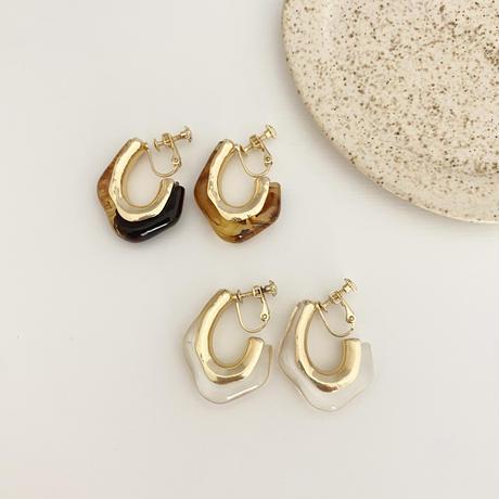 (new arrival)gold hoop earring