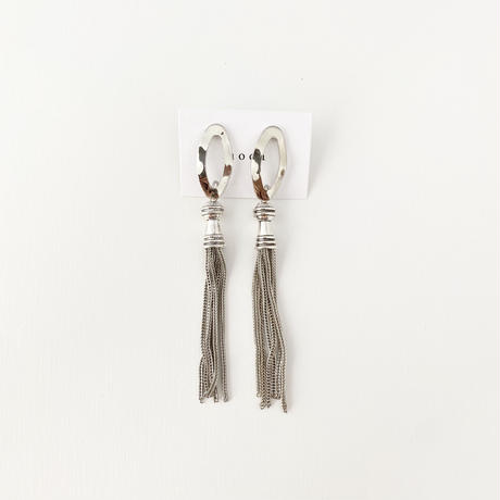 (pierce)P-4 silver tassel pierce