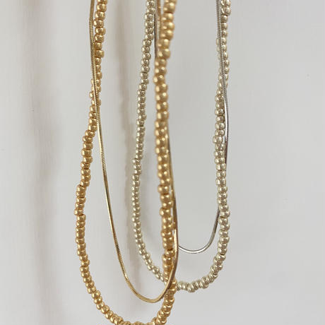 (new arrival)simple&beads necklace