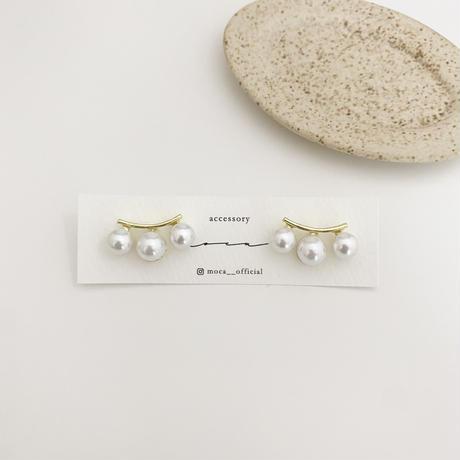 (new arrival)pearl 3piece pierce