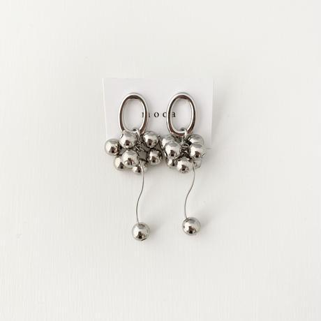 (pierce)P-9  silver beads pierce
