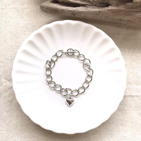 B-2 heart sliver bracelet