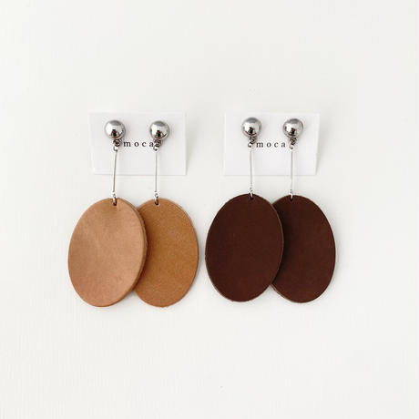 (pierce)P-3  leather oval pierce