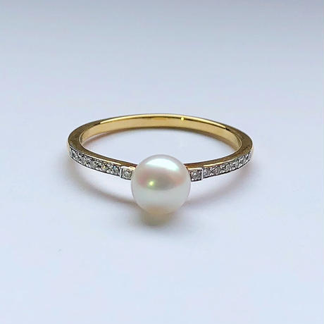Pearls & Diamond Ring