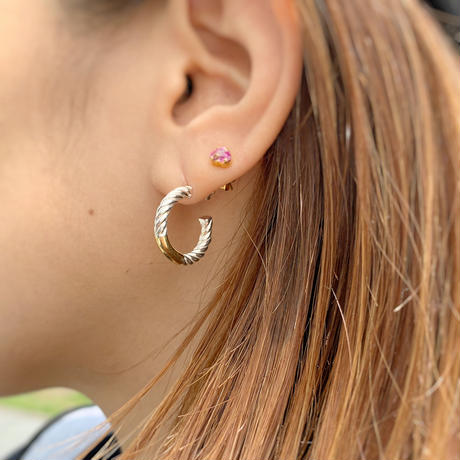 Hoop Silver×Gold Earrings