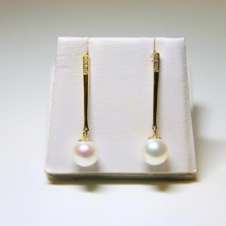 Pearls & Diamond Earrings