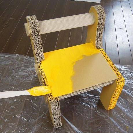 ダンボール製【ファースト・チェア工作キット】パパとママが作ってあげる!1歳半からの子供用椅子ギフトに最適♪